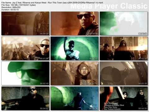 Клип Jay-Z feat. Rihanna & Kanye West - Run This Town DVDRip скринлист